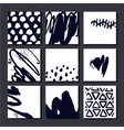 set of artistic cards posterls art hand vector image vector image