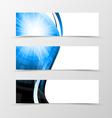 Set of header banner dynamic futuristic design vector image vector image