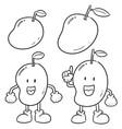 set of mango vector image vector image