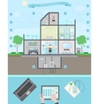 Smart Home Infographic vector image vector image
