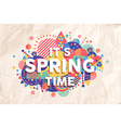 Spring time quote poster design vector image vector image
