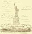 statue liberty vintage vector image vector image