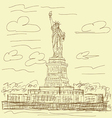 statue of liberty vintage vector image