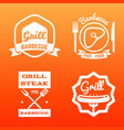 steak house grill bar and barbecue label vector image vector image