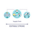 supply chain concept icon vector image vector image