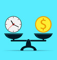 time is money vector image vector image