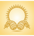 Traditional asian paisley design with copy-space vector image