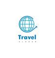 travel logo globe travel icon vector image vector image