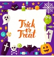 Trick or Treat Paper Template vector image vector image