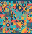 vintage bauhaus art design seamless pattern vector image vector image