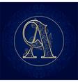 vintage floral alphabet letter a vector image vector image