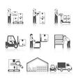 Warehouse Icon Black vector image vector image