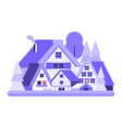 winter village icon vector image vector image