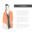 Woman fashion vector image