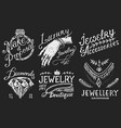 women s jewelry shop badges and logo set luxury vector image vector image