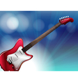 A red electric guitar vector image