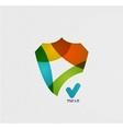 Colorful paper shield modern design vector image