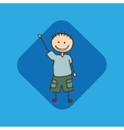 happy child icon vector image