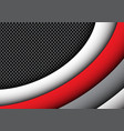 abstract red gray curve circle mesh modern vector image vector image