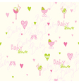 Baby shower seamless pattern vector image vector image