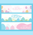 banner templates happy easter background vector image vector image