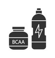 bcaa supplement glyph icon vector image