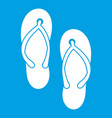 beach thongs icon white vector image