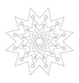 black and white round simple christmas star vector image vector image