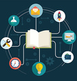 books and icons science the concept modern vector image vector image