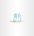 bowling pins logo icon vector image vector image