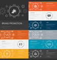 brand promotion infographic 10 line icons banners vector image vector image