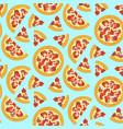 cartoon bright tasty italian pizza pattern vector image