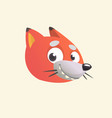 cartoon cute fox vector image vector image