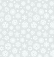 christmas seamless pattern with snowflakes light vector image