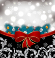 Christmas traditional background with decoration vector image