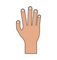 color image cartoon realistic hand human palm vector image vector image