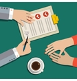 Concept of agreement vector image
