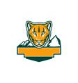 Cougar Mountain Lion Head Retro vector image vector image