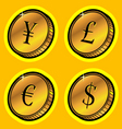 currency golden coins vector image
