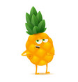 cute and funny pineapple character cartoon vector image vector image