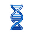 dna line icon vector image vector image