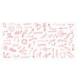 doodle arrows hand drawn direction signs cartoon vector image vector image