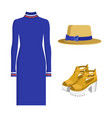 dress and hat summer mode vector image vector image