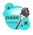 duster and dust wiping clean company isolated vector image vector image