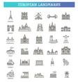 european landmarks and travel destinations vector image