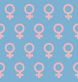 female gender signs seamless pattern vector image