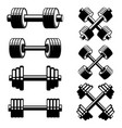 fitness dumbbells isolated on white background vector image