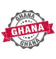 ghana round ribbon seal vector image vector image