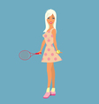 girl-tennis-player vector image