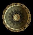 gold 3d floral greek mandala pattern ornamental vector image vector image